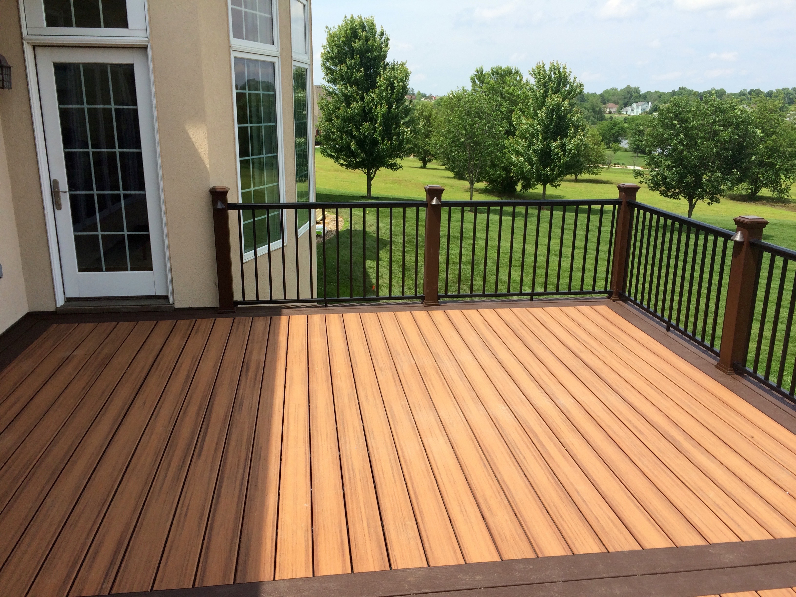 Composite Decking Cedar Color Timbertech Composite Decking
